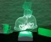 Lampa de veghe Kittens 3D