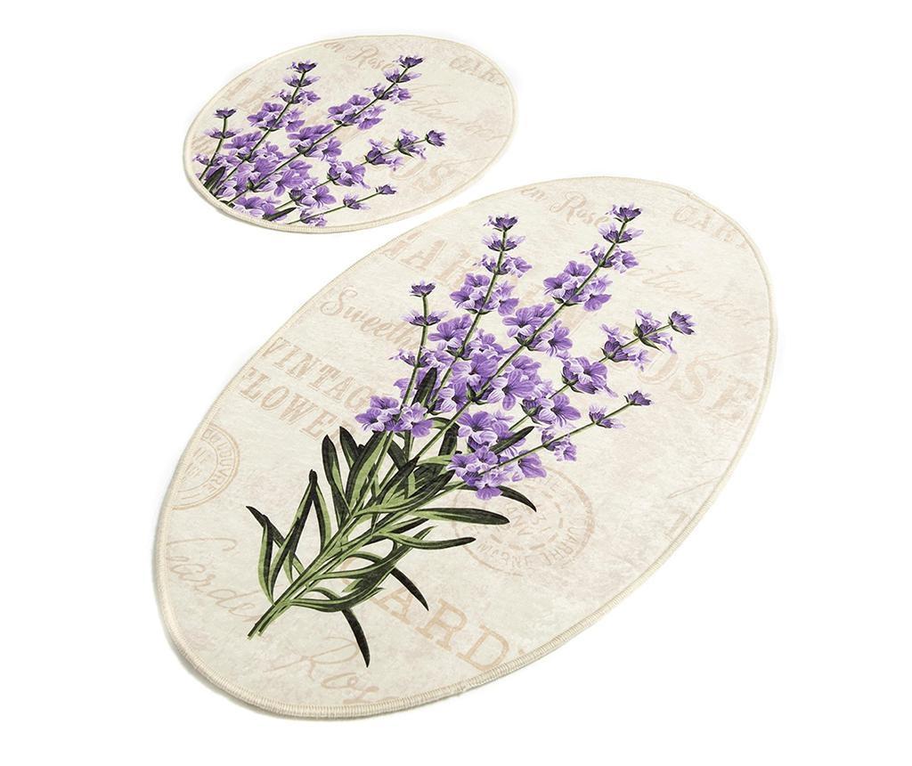 Set 2 kopalniških preprog Lavender DJT