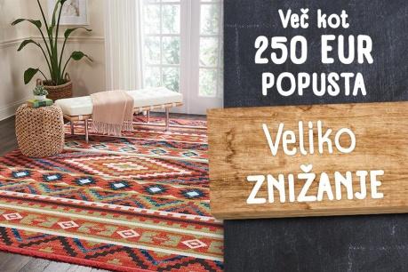 Veliko ZNIŽANJE: Popusti za najmanj 250 EUR