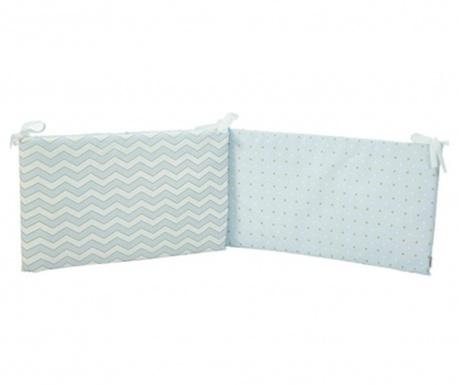 Protectie pentru patut Pattern Blue 40x210 cm