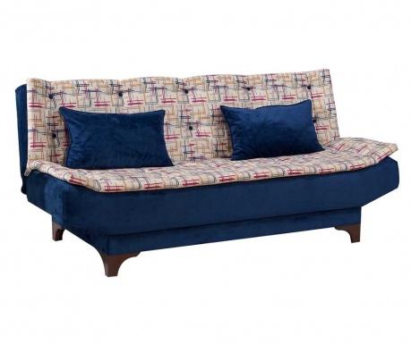 Canapea extensibila 3 locuri Clara Pattern Blue