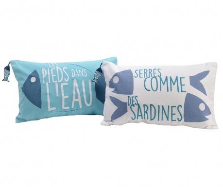 Perna decorativa Sardines Blue 30x50 cm