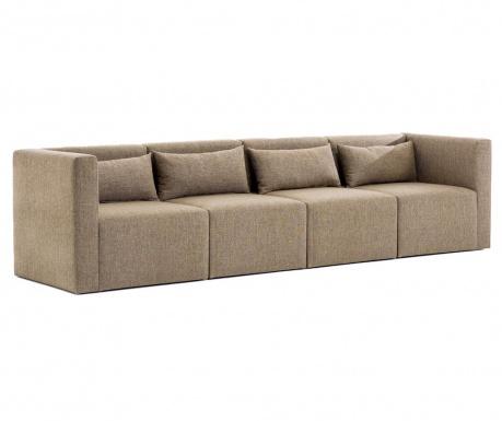 Canapea modulara 4 locuri Plus Brown