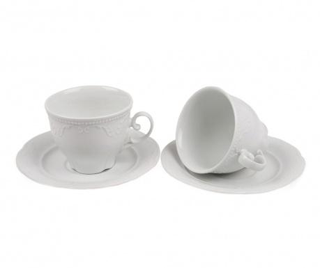 Set 2 cesti si 2 farfurioare Tea Embrace