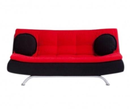 Canapea extensibila 3 locuri Riva Black and Red