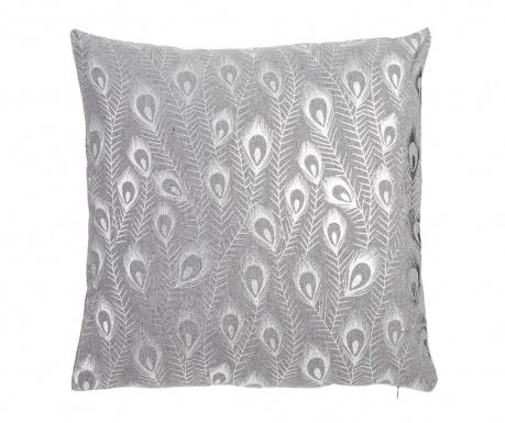 Perna decorativa Peacock Bloom Silver 45x45 cm