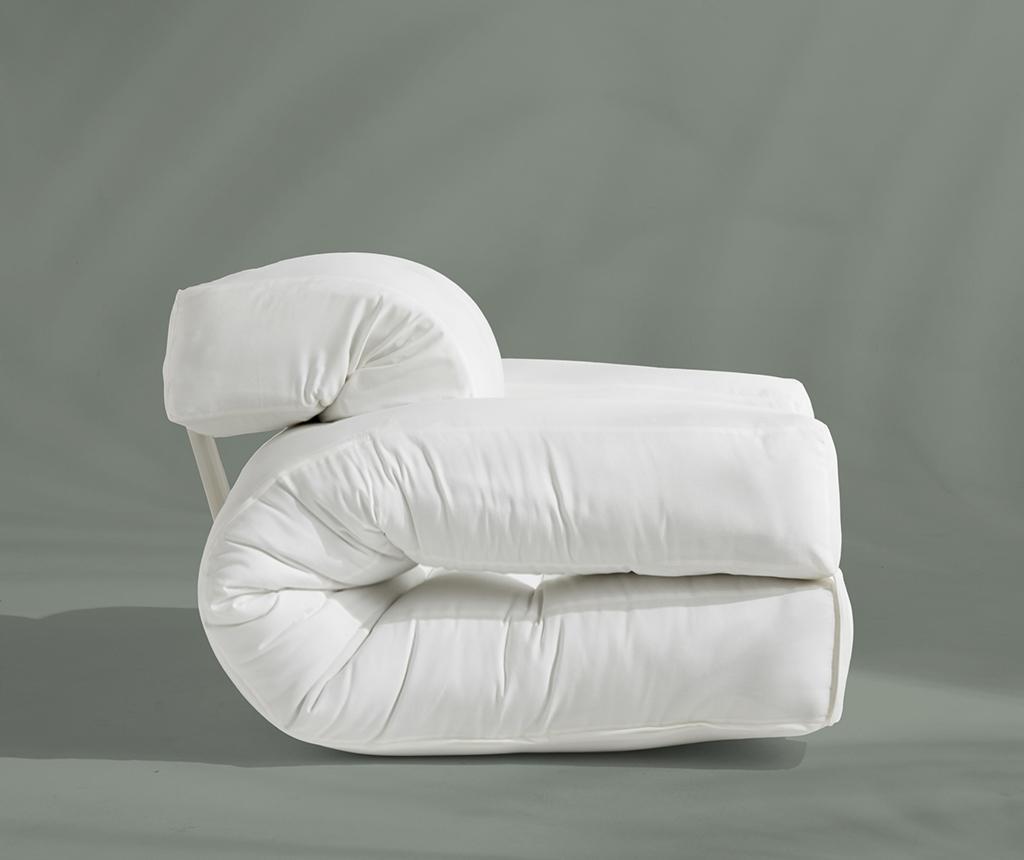 Разтегателен фотьойл за екстериор Hippo Out White 90x200 см
