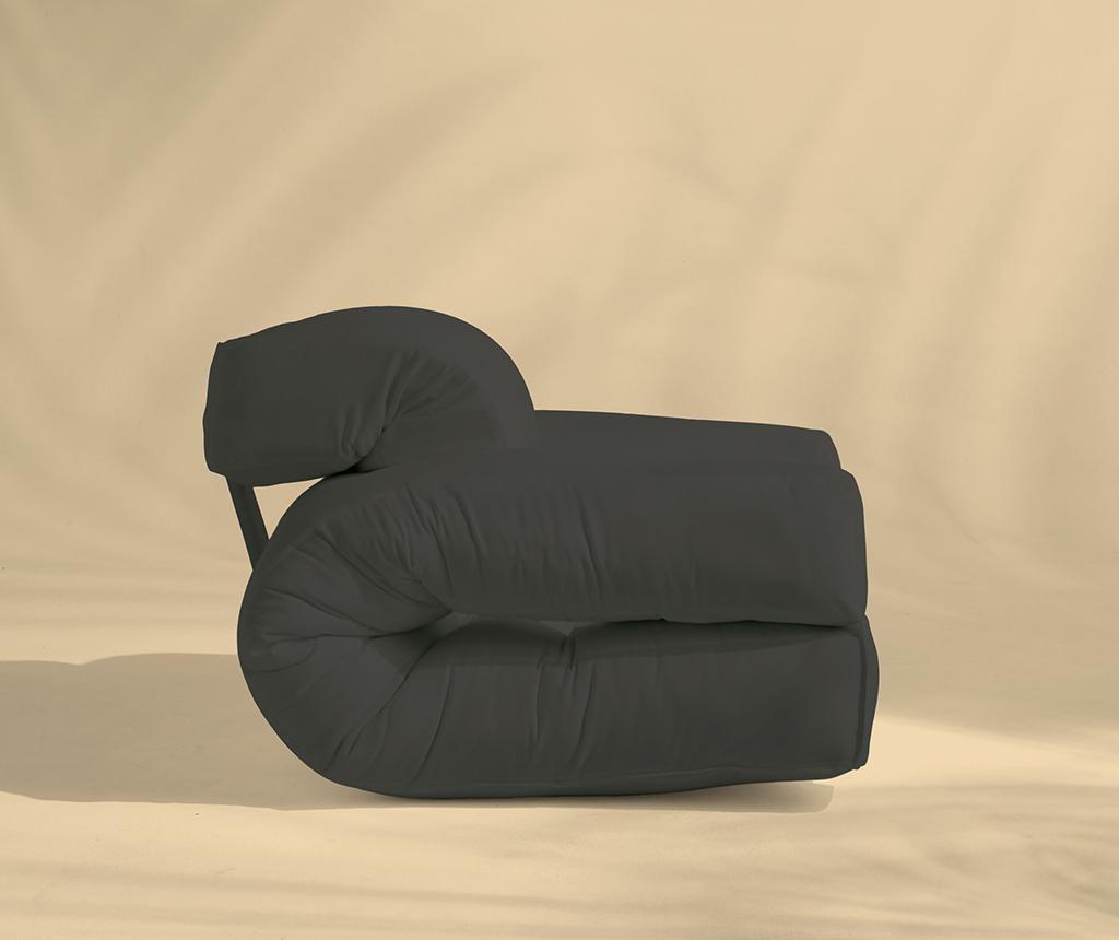 Fotoliu extensibil pentru exterior Hippo Out Dark Grey 90x200 cm