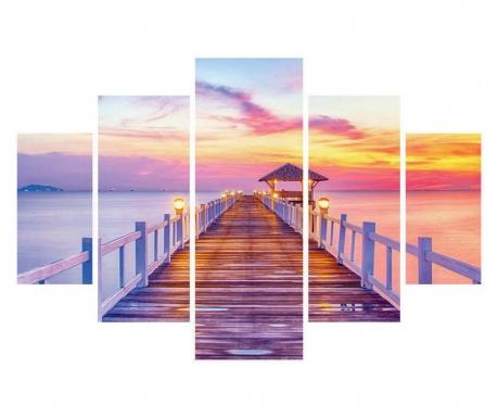 Set 5 tablouri Sunset
