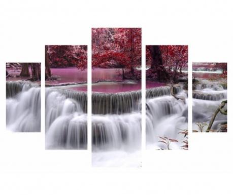 Set 5 tablouri Waterfall