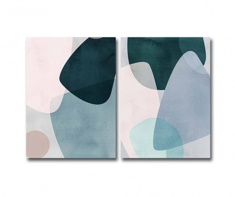 Set 2 tablouri Pastel Pebbles 28x38 cm