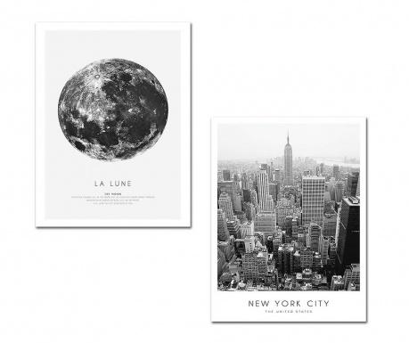 Set 2 tablouri New York City 30x40 cm
