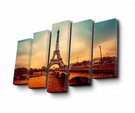 Set 5 tablouri Eifel Tour