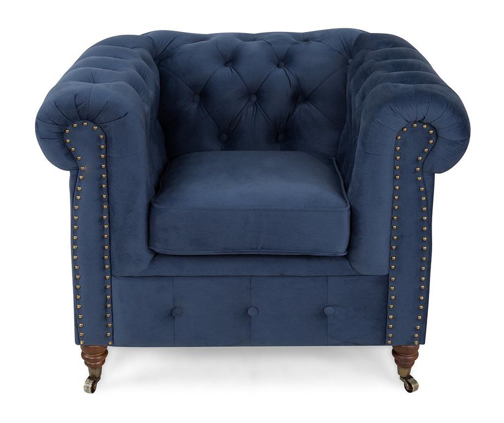 Chesterfield Petrol Blue Fotel