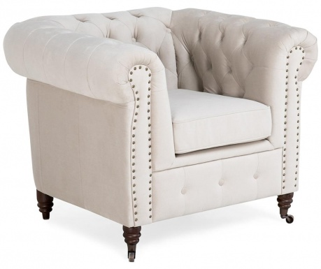 Fotel Chesterfield Beige
