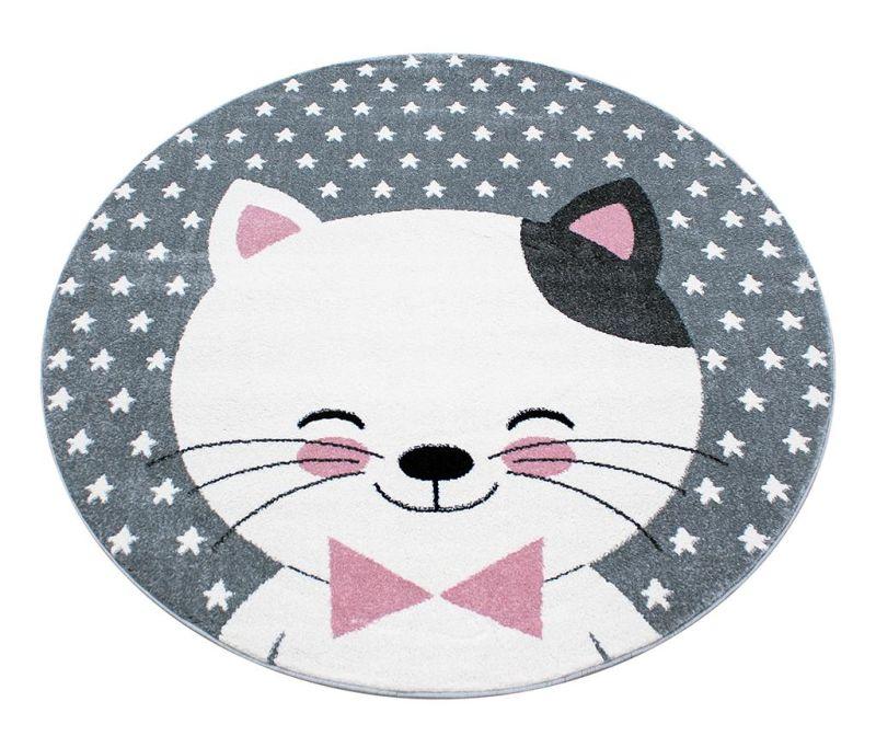 Koberec Kitty Round Pink 120 cm