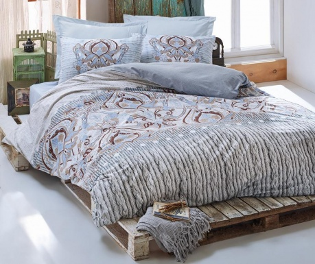 Спално бельо Single Ranforce Verona Blue