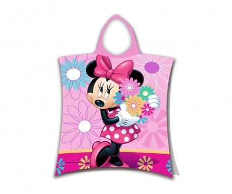 Prosop poncho copii Minnie Flowers 3-6 ani
