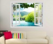 Window Croatia Lake 3D Matrica