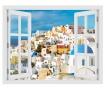 Window Greece Santorini 3D Matrica