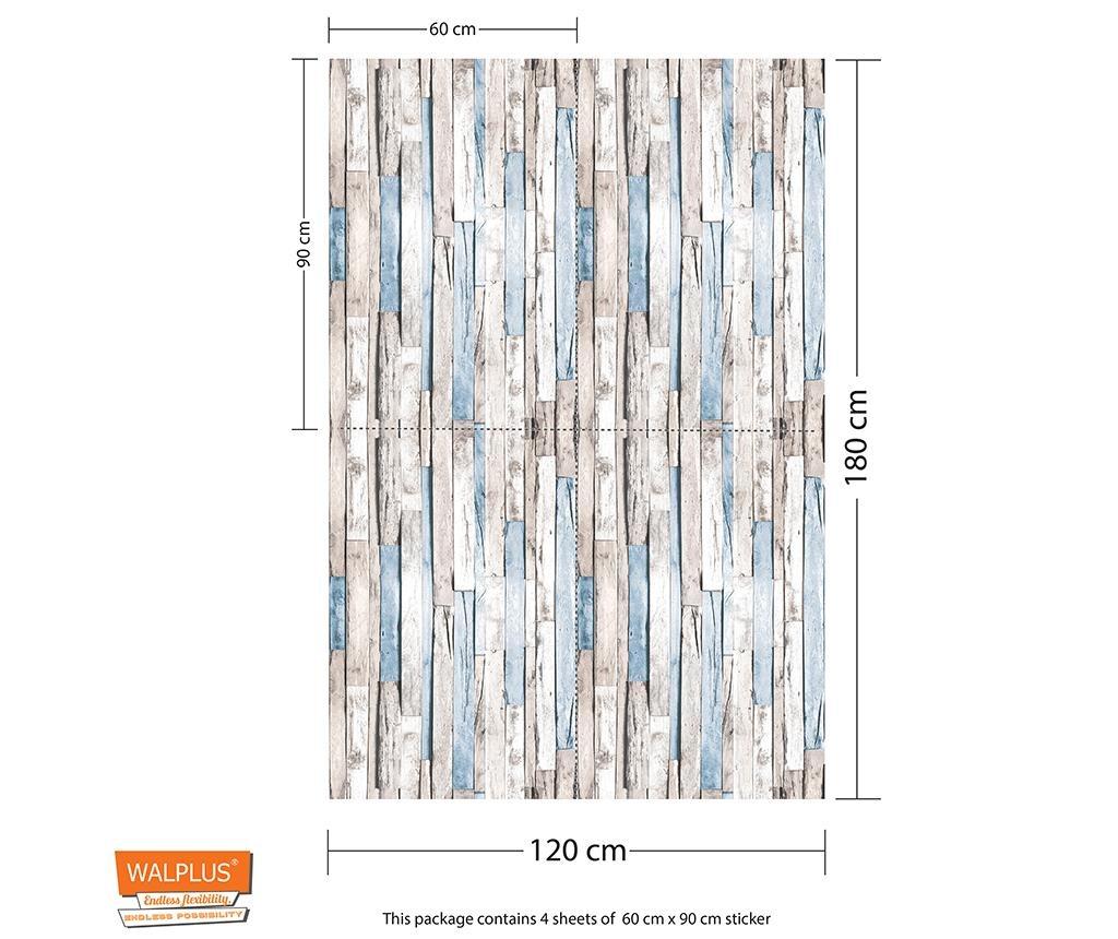 Set 4 nalepk Timber Strip