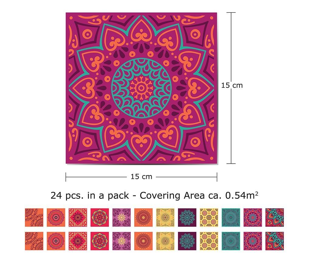Set 24 nalepk Mandala Colorful