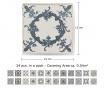 Tile Vintage Blue 24 db Matrica