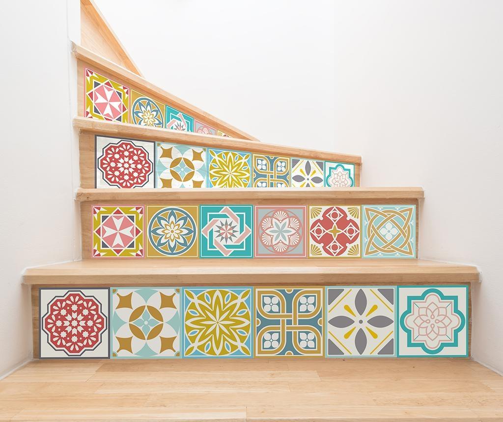 Set 24 nalepk Malia Colorful Tiles
