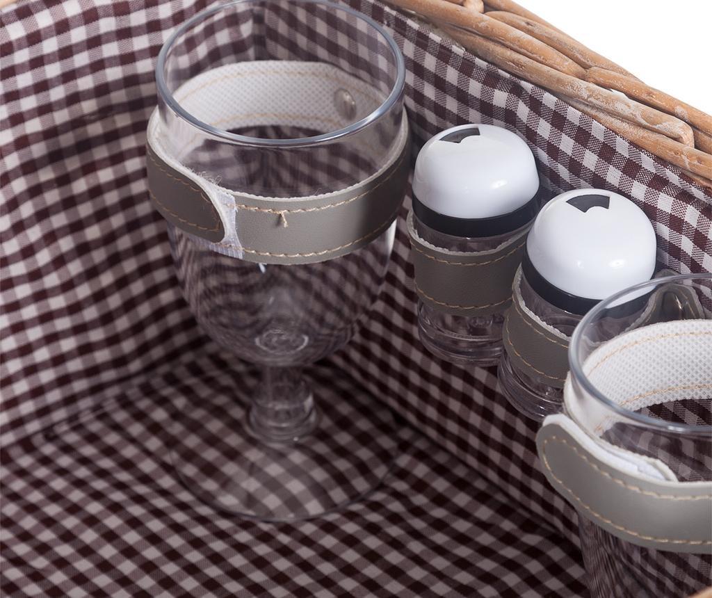 Cos echipat pentru picnic 2 persoane Sol