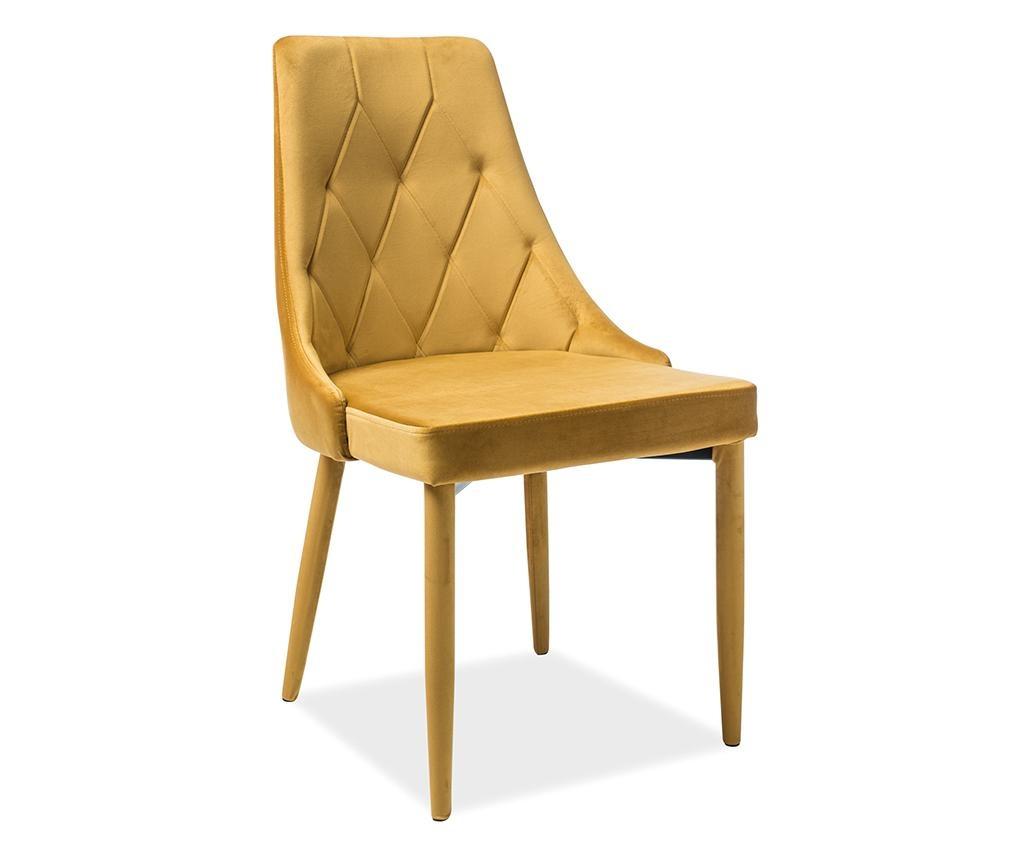 Židle Maxima Velvet Yellow