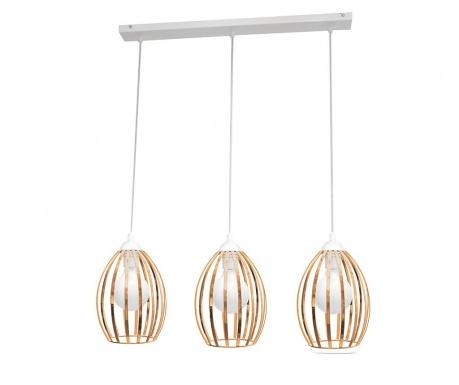 Lustra Dali Three White Brass