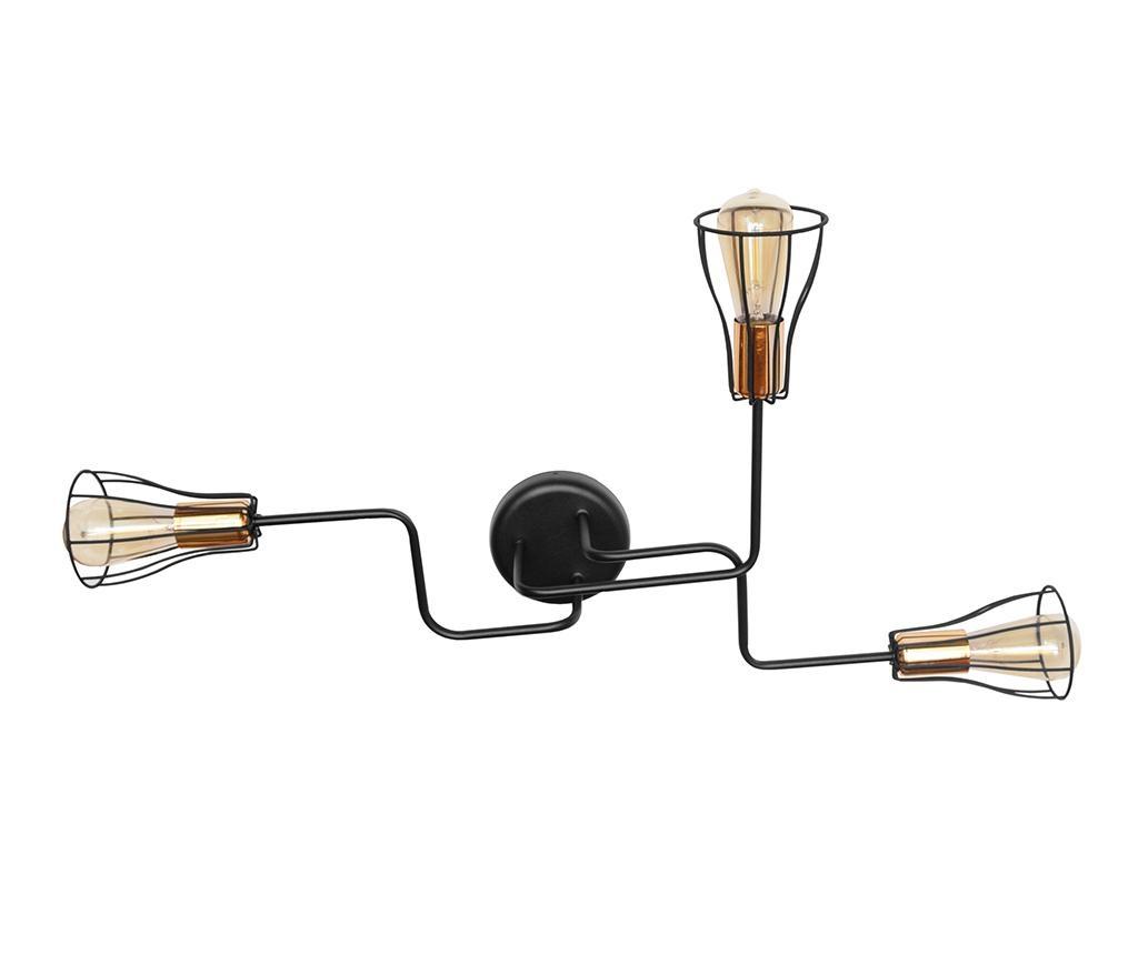 Aplica Tube II Three Black Brass