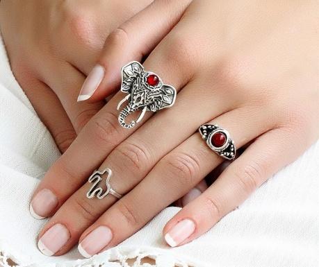 Σετ 3 δαχτυλίδια Boheme Symbols