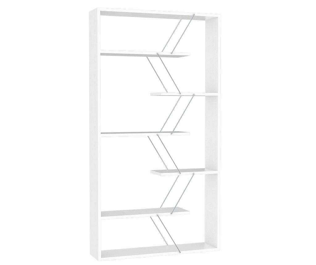 Corp biblioteca Tars White Chrome - Rafevi, Alb
