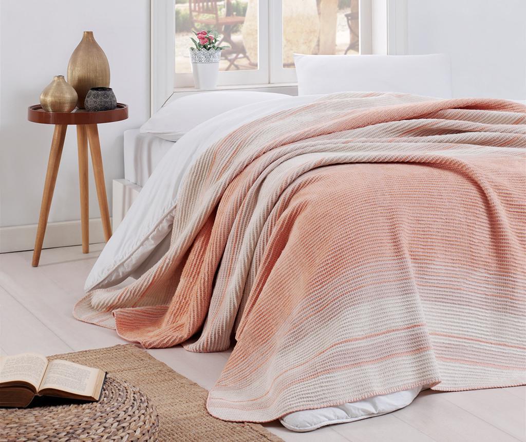 Patura Stripe Powder 180x220 cm - EnLora Home, Roz