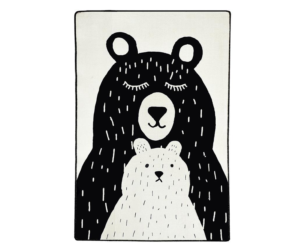 Covor Bears 100x160 cm - Wooden Art, Negru