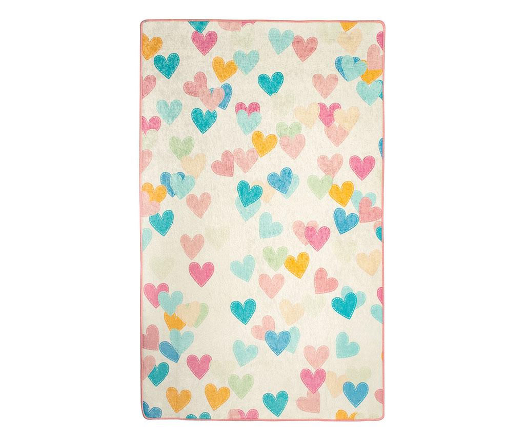 Covor Hearts 140x190 cm - Chilai, Multicolor