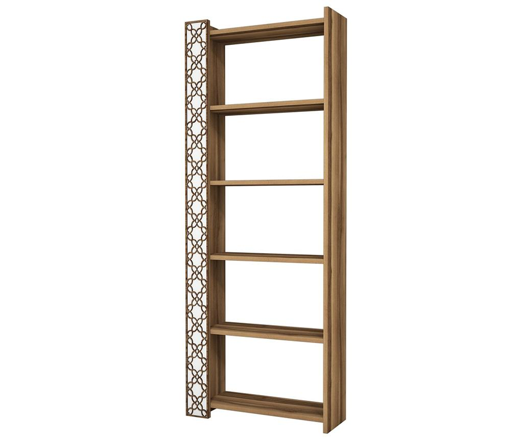 Corp biblioteca City Walnut White - Hommy Craft, Alb