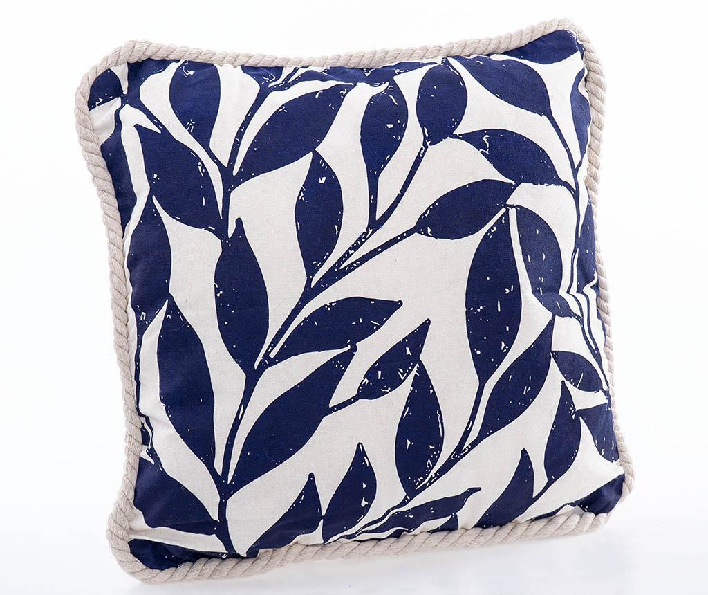 Perna decorativa Leaves Blue 45x45 cm - Garpe Interiores