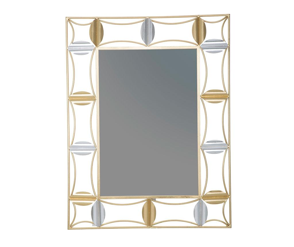 Oglinda Glam Shapes Galben Auriu