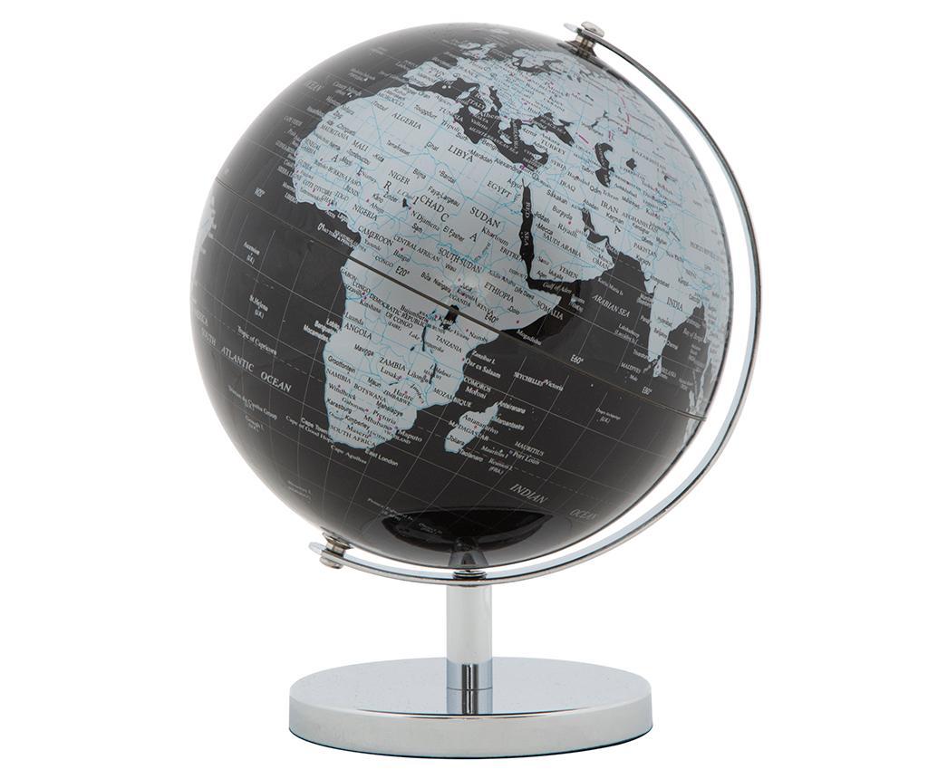 Decoratiune Globe Silver - Mauro Ferretti, Gri & Argintiu,Negru