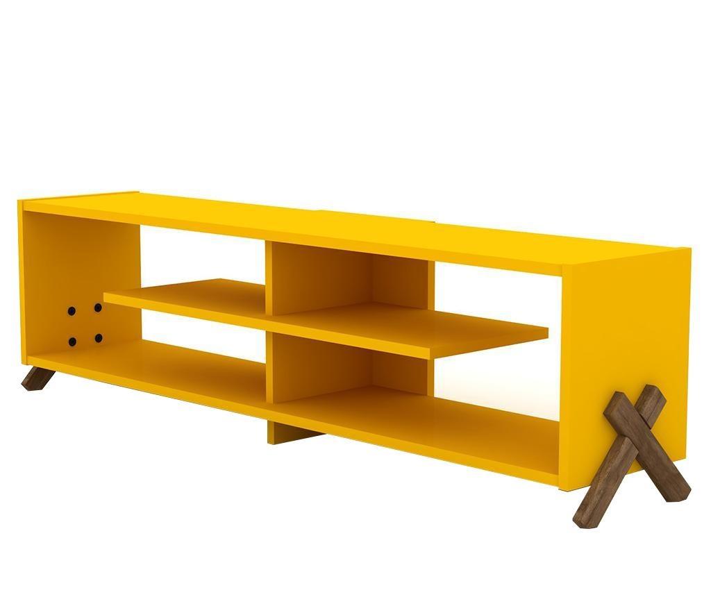 Comoda TV Kipp Walnut Yellow