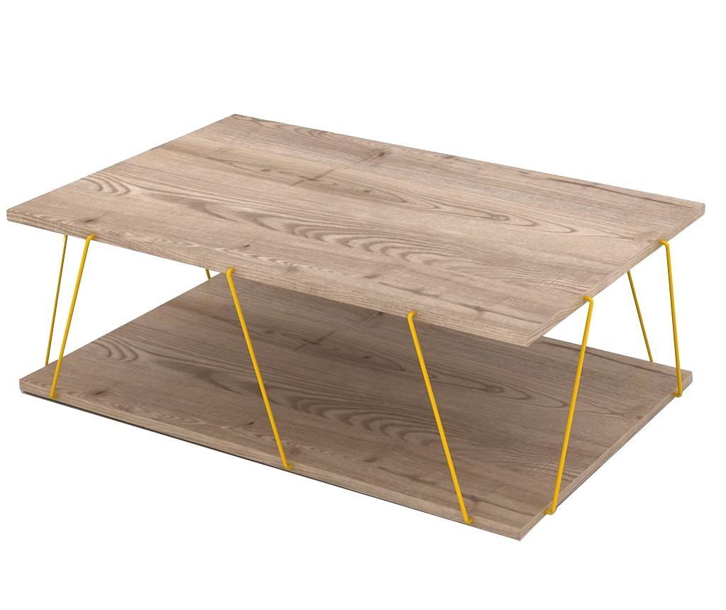 Tars Oak Yellow Dohányzóasztal