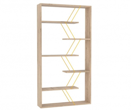 Biblioteczka Tars Oak Yellow