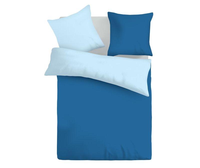 Lenjerie de pat Double Ranforce Duo Blue & Baby Blue