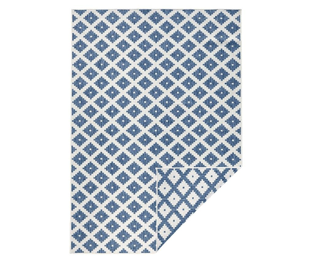 Nizza Blue Cream Kültéri szőnyeg 80x150 cm