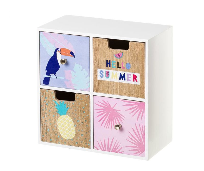 Kutija s 4 ladice Toucan Summer