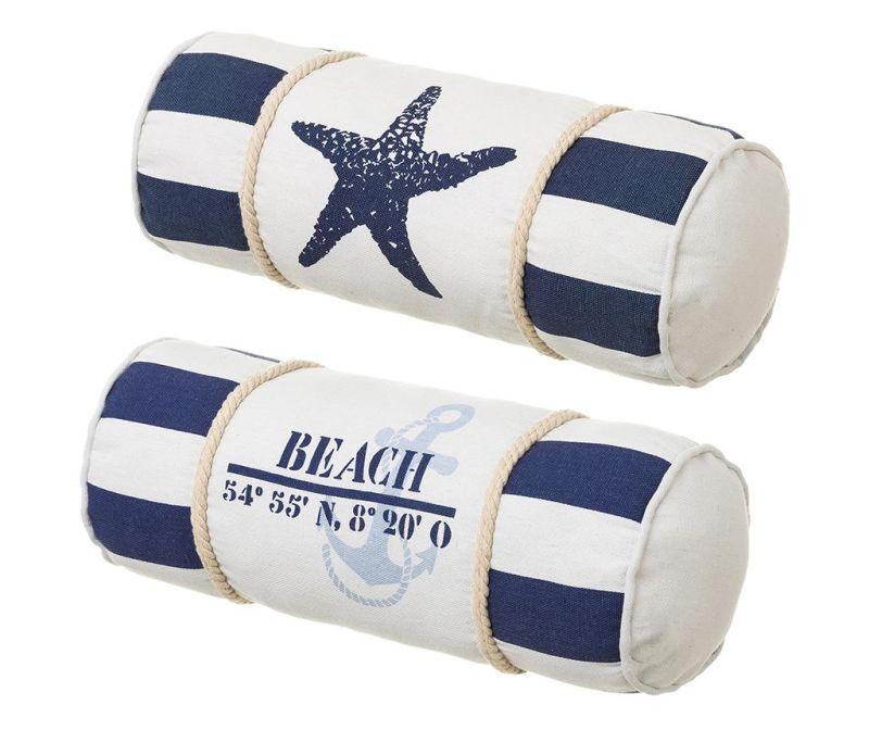 Set 2 ukrasna jastuka Beach Coordinates 15x40 cm