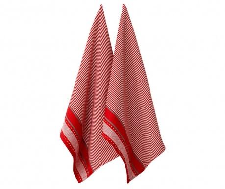 Set 2 prosoape de bucatarie Mason Jumbo Red 22x45 cm