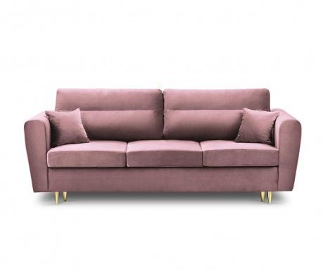 Rozkładana kanapa trzyosobowa Remy Pink